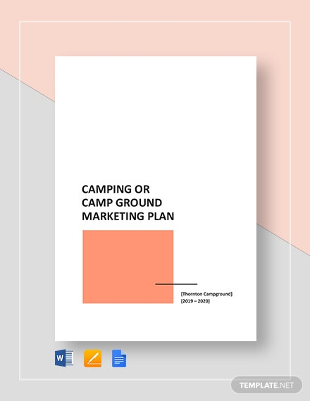Camping or Camp Ground Marketing Plan Template