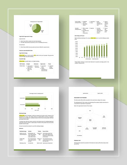 Catering Marketing Plan Download