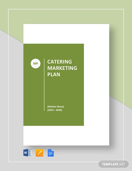 Catering Marketing Plan Template