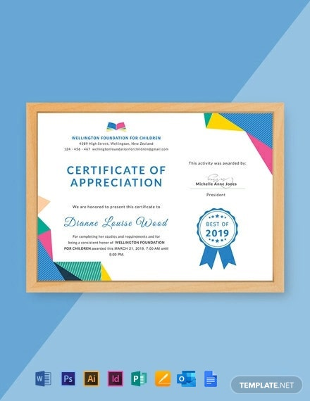 Free Graduation Appreciation Certificate Template