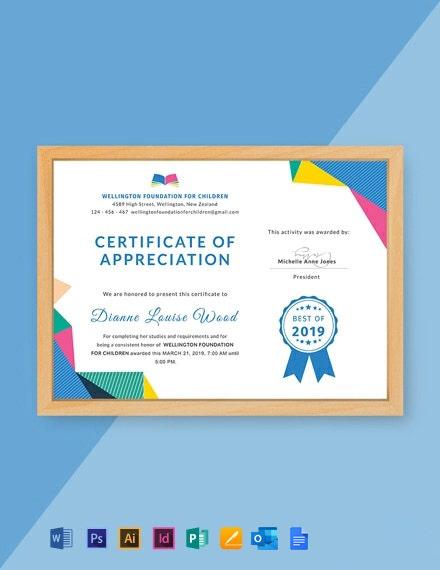 Free Graduation Appreciation Certificate Template