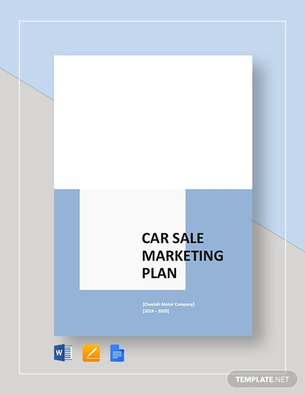 Car Sale Marketing Plan Template