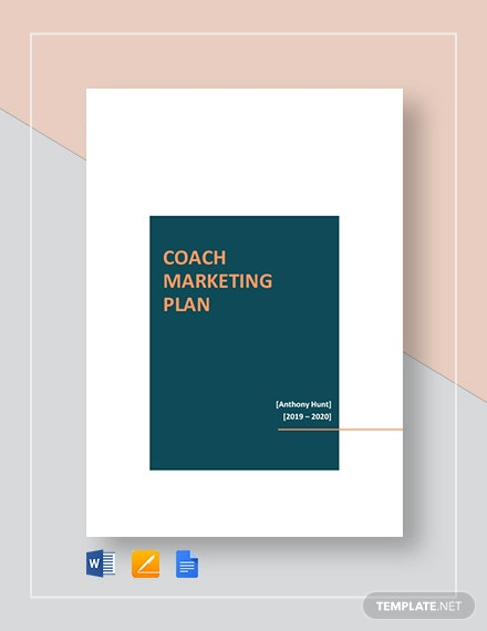 Coach Marketing Plan Template