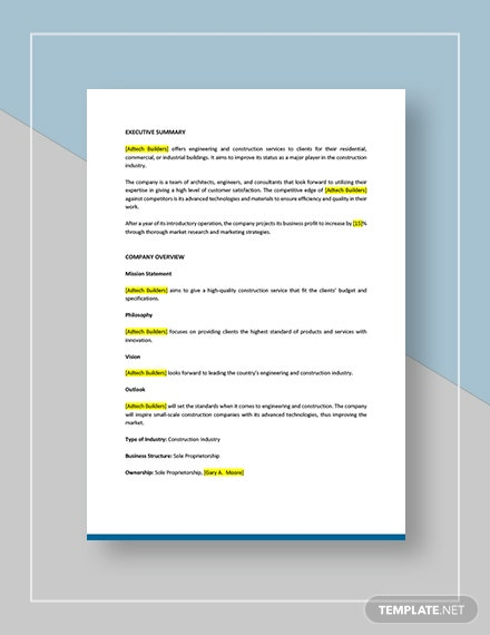 Construction Marketing Plan Download