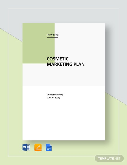 Cosmetic Marketing Plan Template