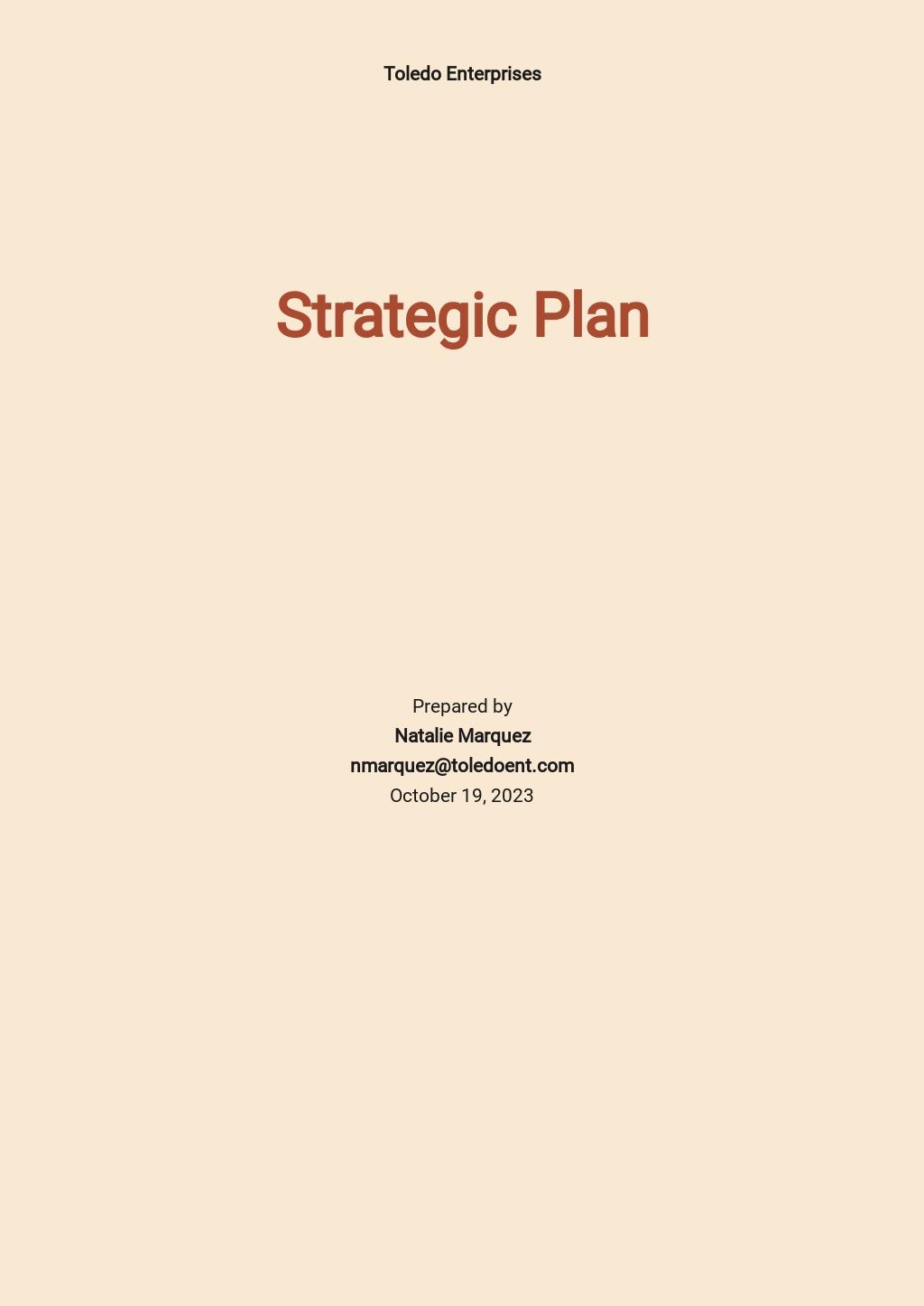 Data Strategy Plan Template