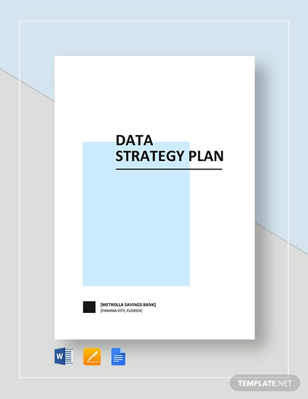 Data Strategy Plan Template