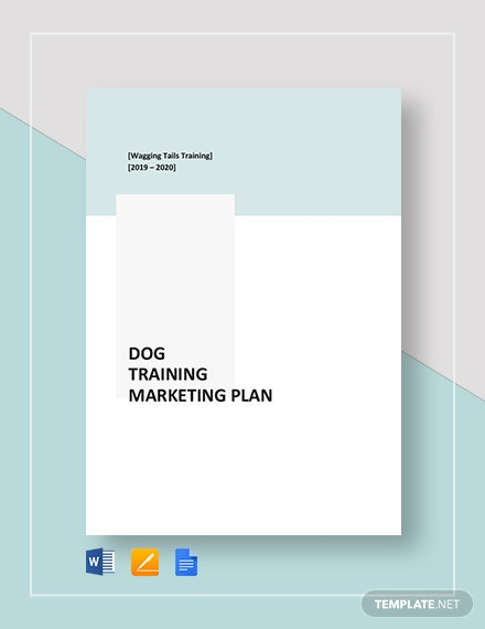 Dog Training Marketing Plan Template