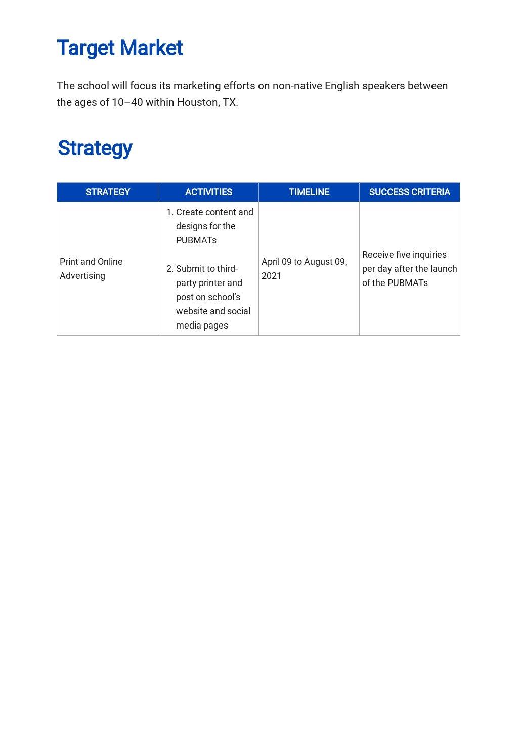 Education Marketing Plan Template 2.jpe