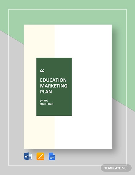 Education Marketing Plan Template