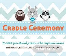 Free Cradle Ceremony Invitation Template