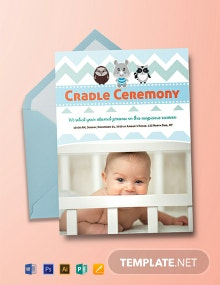 Free Simple Cradle Ceremony Invitation Template