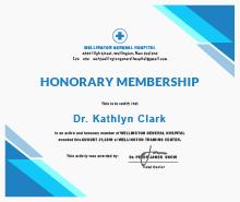 Free Medical Membership Certificate Template