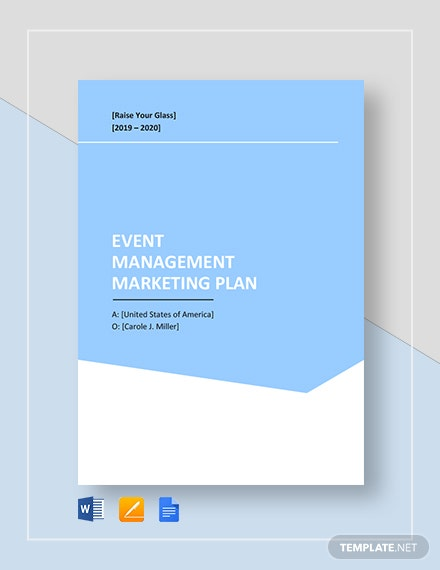 Event Management Marketing Plan Template
