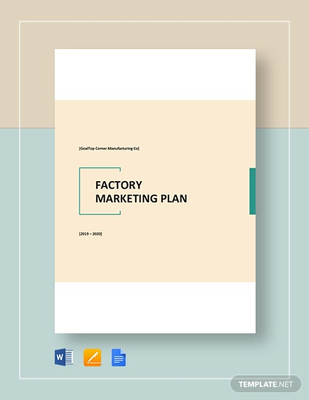 Factory Marketing Plan Template