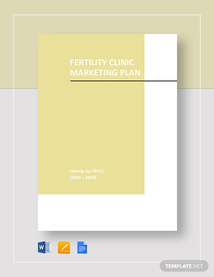 Fertility Clinic Marketing Plan Template