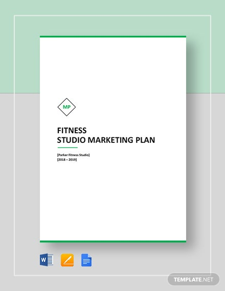 Fitness Studio Marketing Plan Template