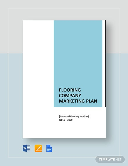 Flooring Company Marketing Plan Template