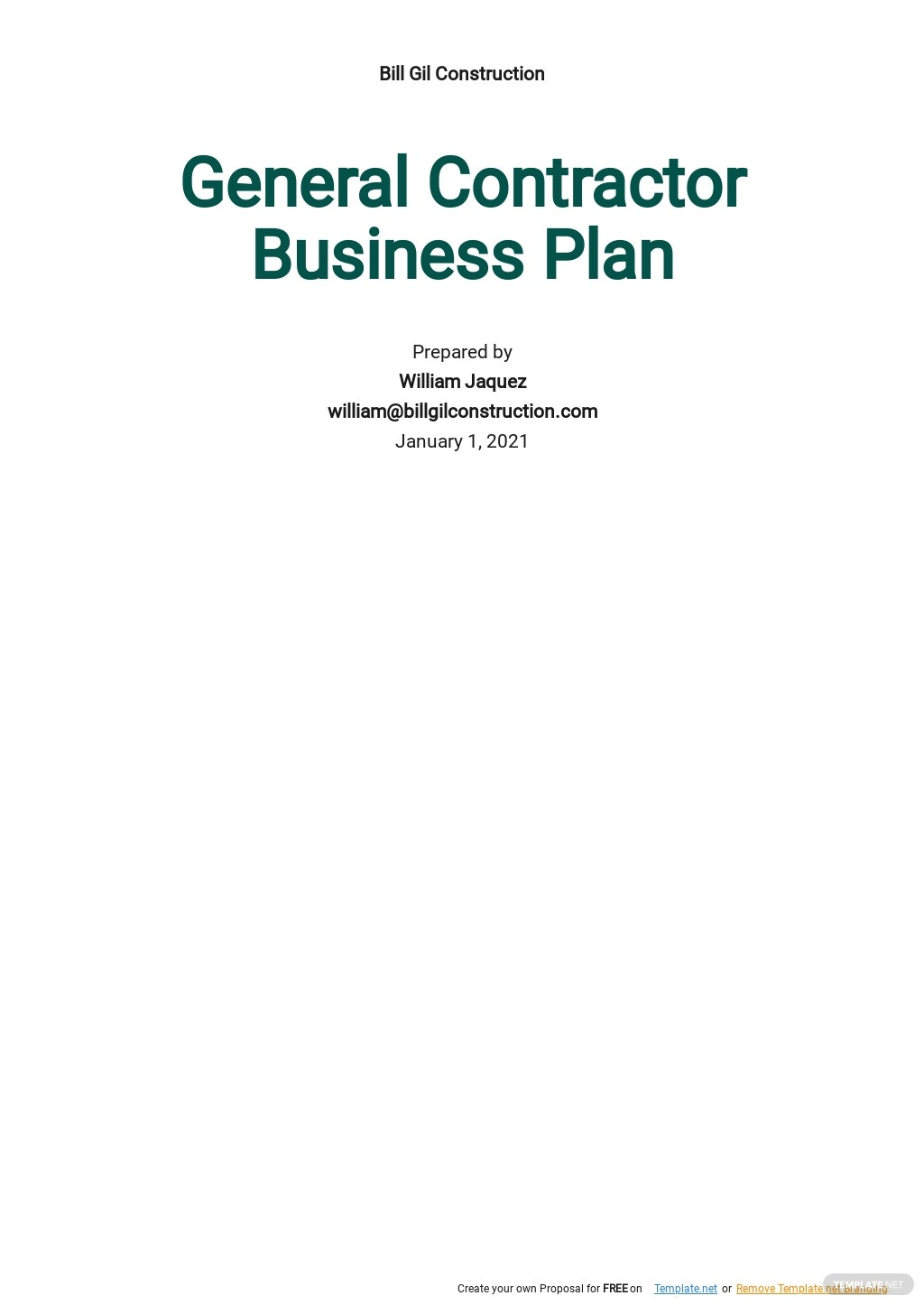 General Contractor Business Plan Template.jpe