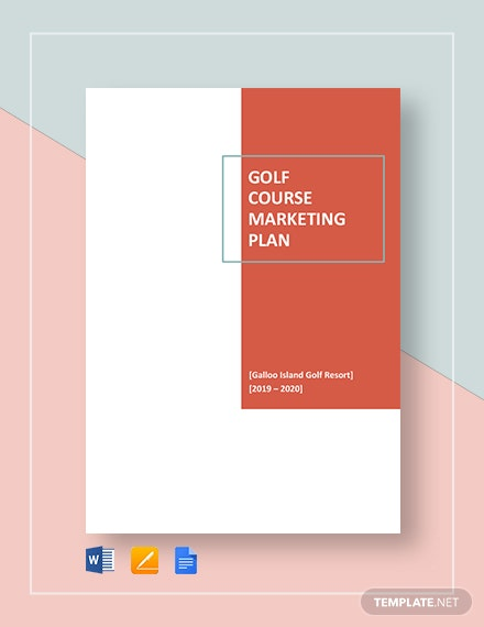 golf course marketing plan