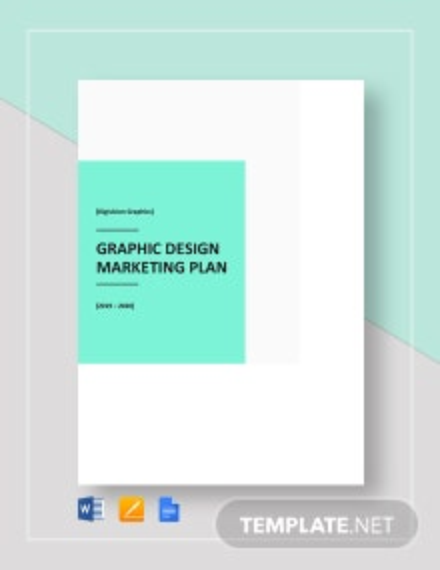 Graphic Design Marketing Plan Template