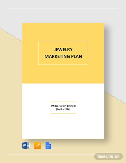 Jewelry Marketing Plan Template