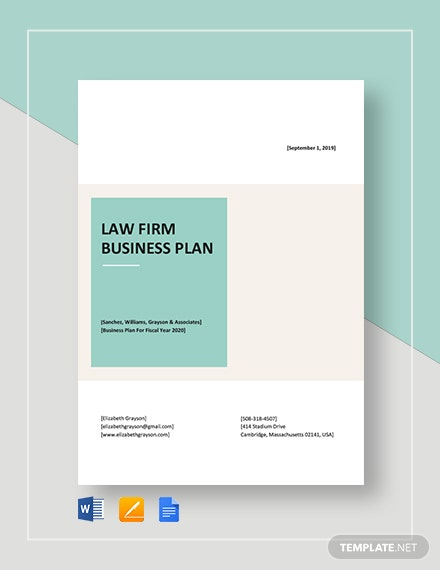 Law Firm Business Plan Template