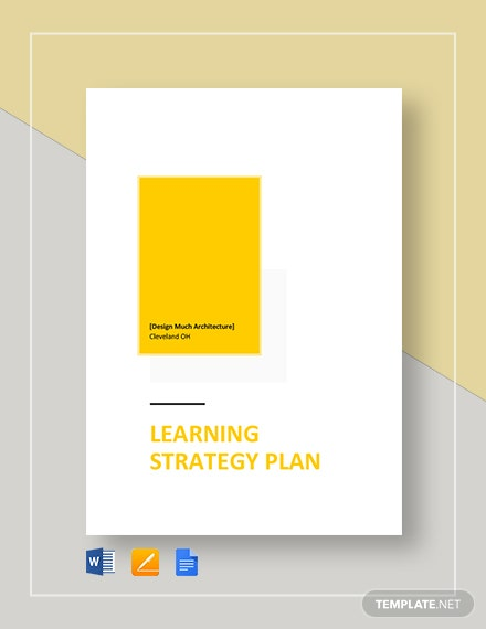 Learning Strategy Plan Template