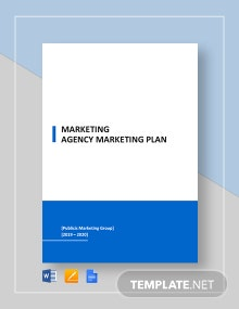 Marketing Agency Marketing Plan Template