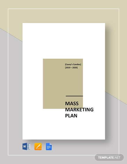 mass marketing plan