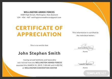 Free Retirement Certificate Template Download 200 Certificates In