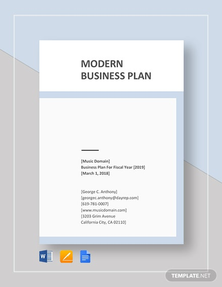 modern business plan