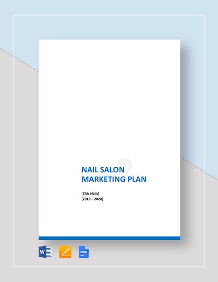 Nail Salon Marketing Plan Template
