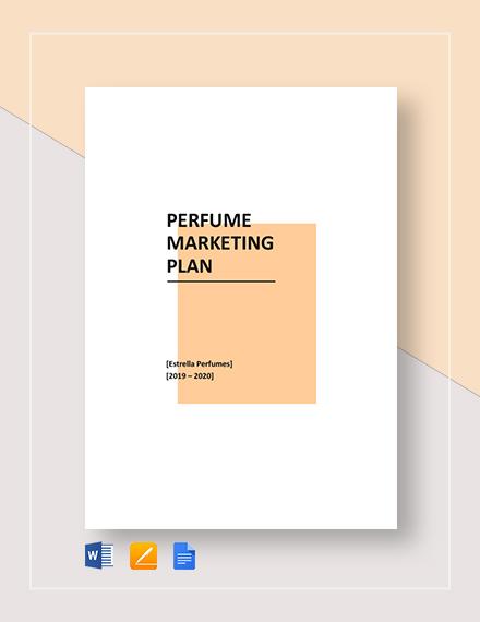Perfume Marketing Plan Template