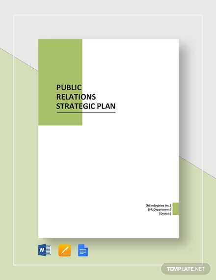 public relations strategic plan