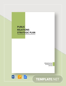 Public Relations Strategic Plan Template