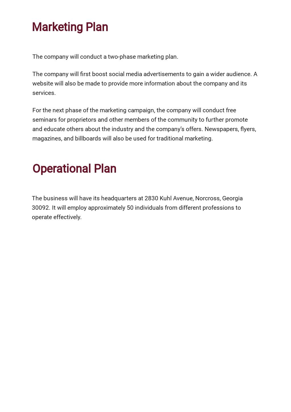 Quality Assurance Business Plan Template 4.jpe