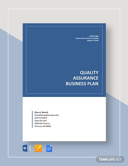 quality assurance business plan