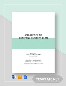 SEO Agency or Company Business Plan Template
