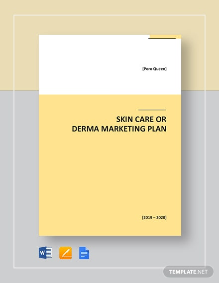 Skin Care or Derma Marketing Plan Template