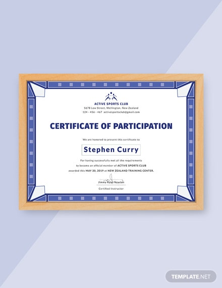 13 free participation certificate templates download ready made