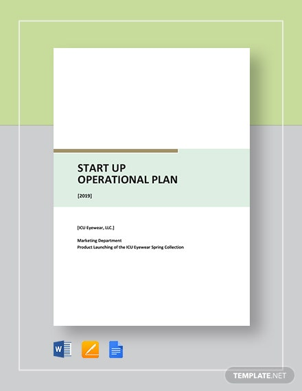 startup operational plan
