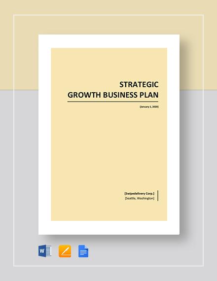 Strategic Growth Plan Template