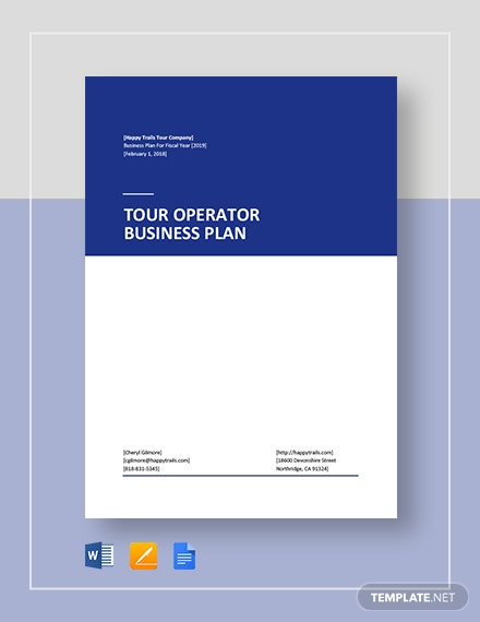 tour operator business plan