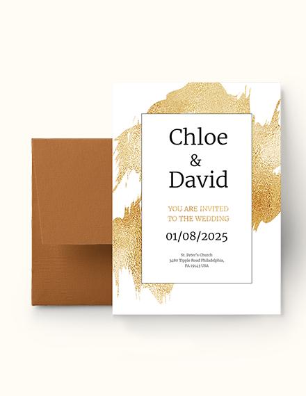 modern wedding invitation Download