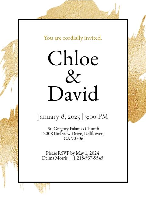 Modern Church Wedding Invitation Template