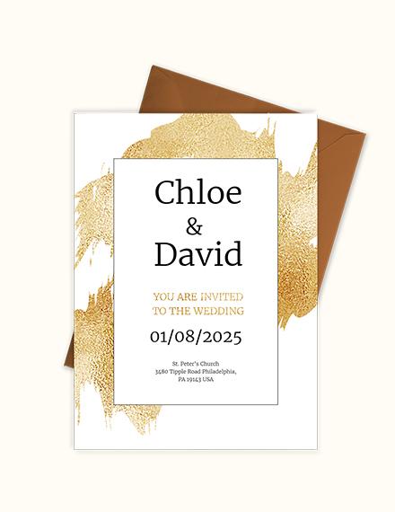 Sample modern wedding invitation Template