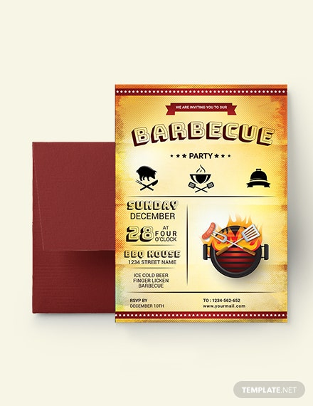 BBQ  Party Invitation Template Download