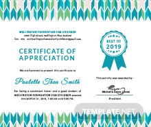 Free Certificate of Appreciation for Student Template