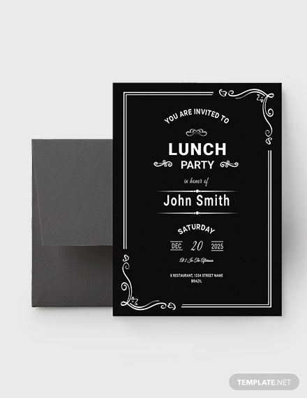 Chalkboard Rehearsal Lunch Invitation Template Download